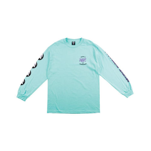 Welcome Waves Long Sleeve Tee- Teal - 50-50 Skate Shop