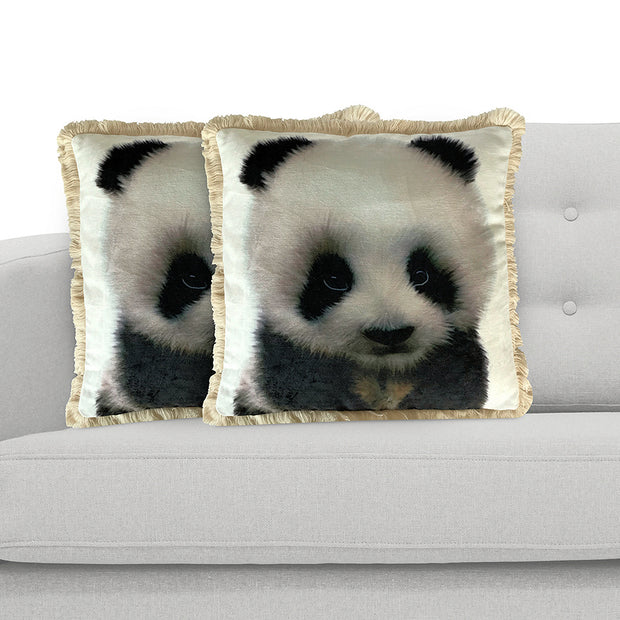 Panda 45cm x 45cm Plush Cushion Cover