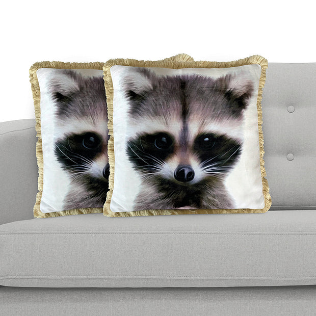 Racoon 45cm x 45cm Plush Cushion Cover