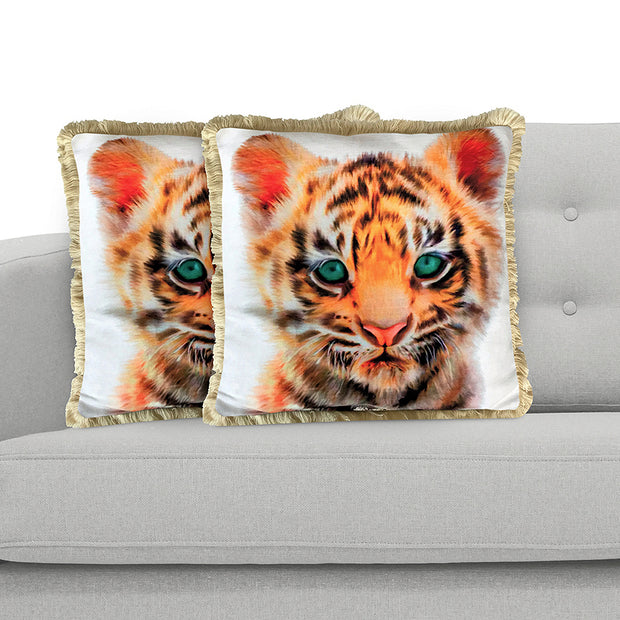 Tiger 45cm x 45cm Plush Cushion Cover