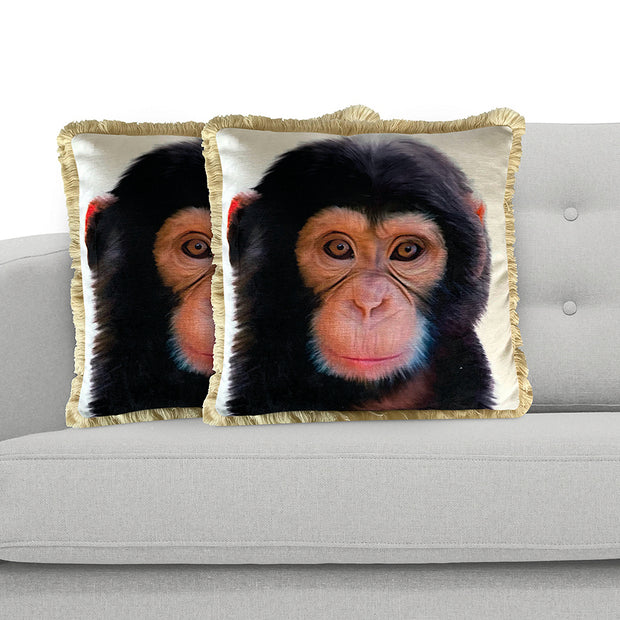 Chimp 45cm x 45cm Plush Cushion Cover