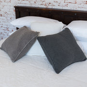 Vintage Wash Cotton Indoor Cushion Cover - Charcoal