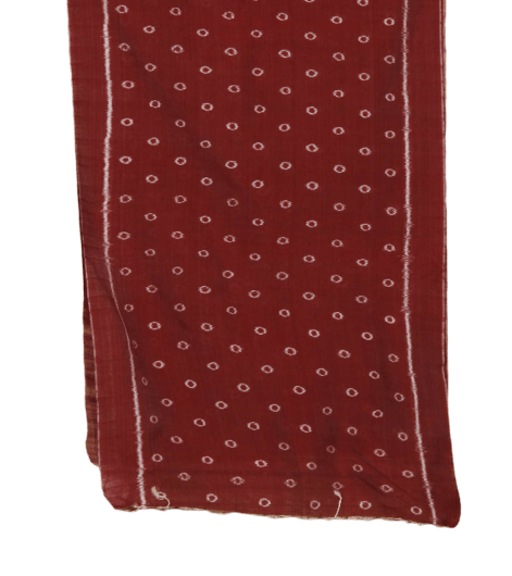 Maroon Cotton Odisha Handloom Stole with Ikat Motifs