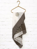 CraftsCollection.in - Beige Maheswari Silki dupatta with handpainted tribal art
