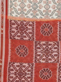 CraftsCollection.in - Beige and Rust Odisha Handloom Sambalpuri Bandha Saree