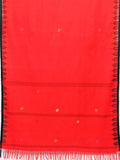 CraftsCollection.in - Woollen Red and Black Dupatta with Woven  Temple border