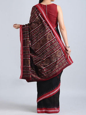 Black Ekphulia Sambalpuri Cotton Saree