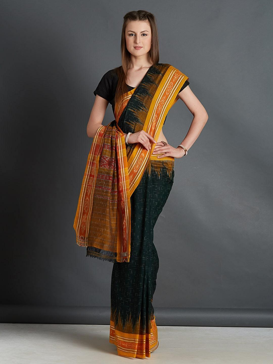 Sambalpuri Ikat Cotton Saree