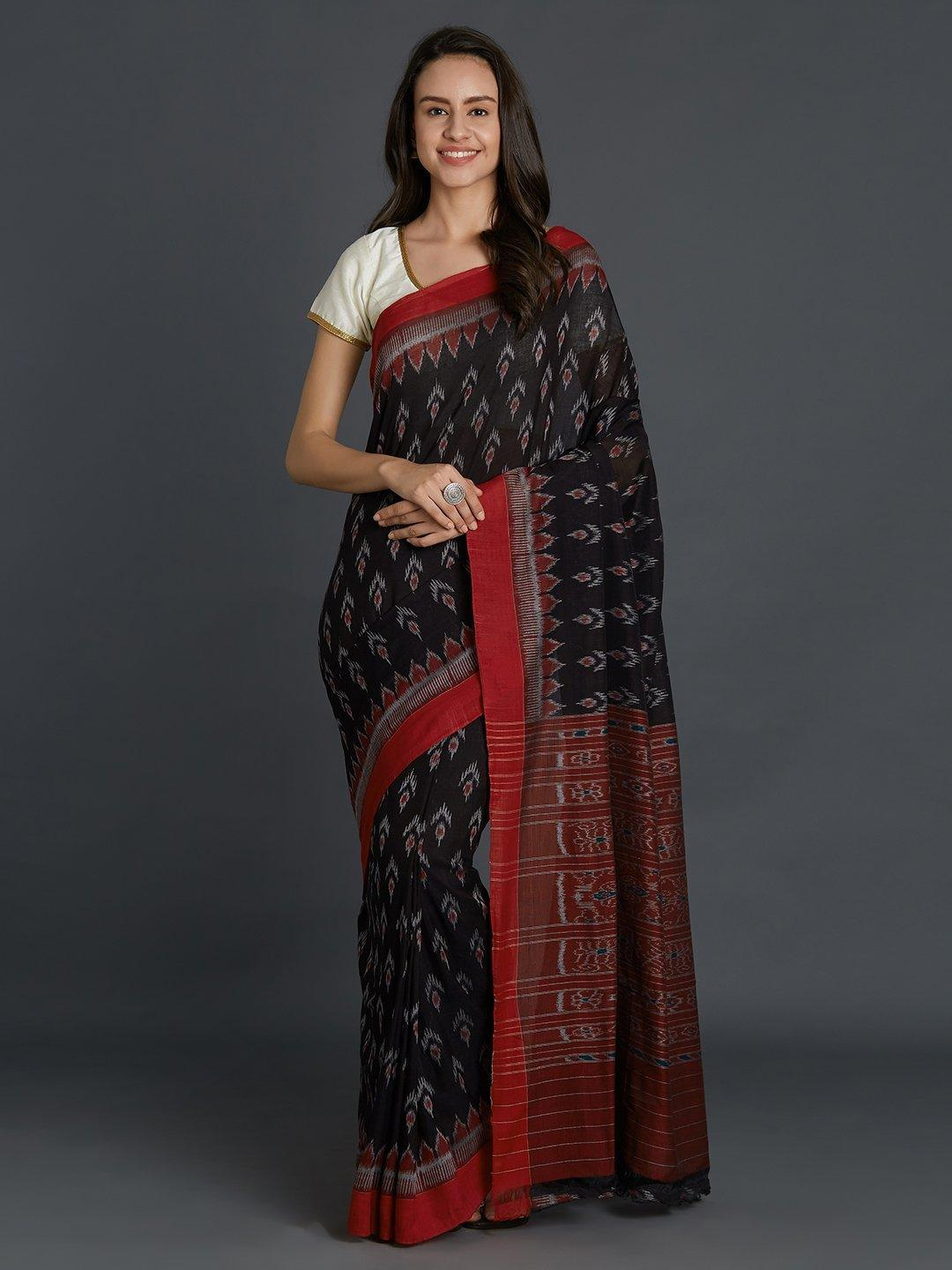 Sambalpuri Bandha Cotton Saree