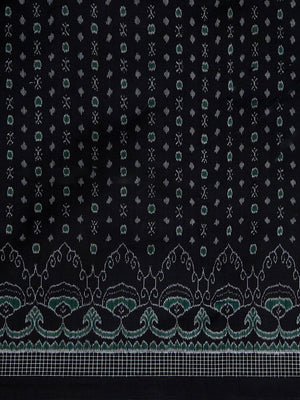 CraftsCollection.in - Black Sambalpuri Double Ikat Saree