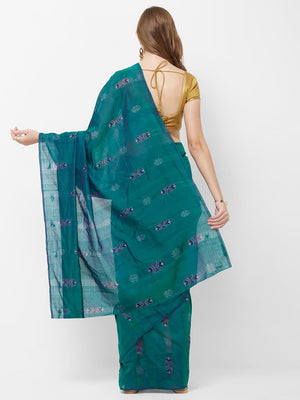 CraftsCollection.in -Blue Sambalpuri Cotton Saree
