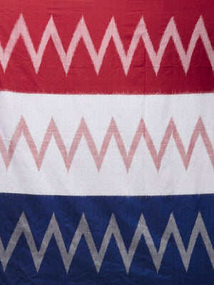 CraftsCollection.in - Multicolour Odisha Sambalpuri Cotton Saree
