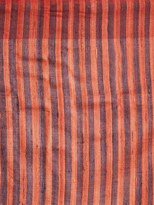 CraftsCollection.in - Black  Red Tussar Ghicha Silk Sambalpuri Bandha Saree
