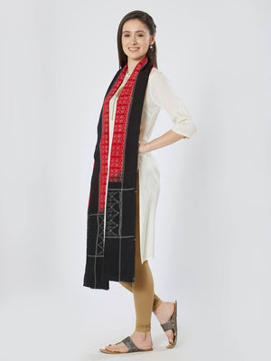 CraftsCollection.in - Red Sambalpuri Bandha Stole