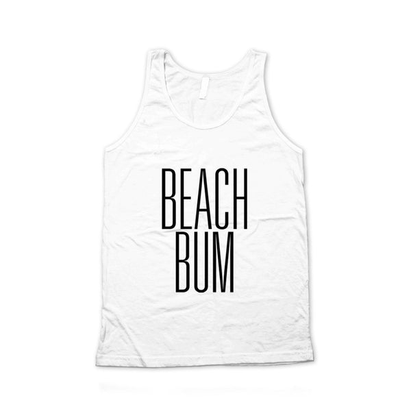 Beach Bum Typography Unisex Tank Top