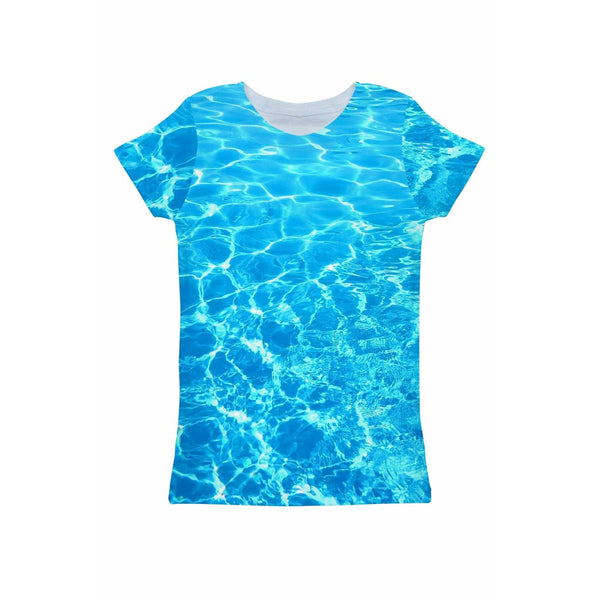 Harmony Song Zoe Blue Water Print Eco T-Shirt - Women