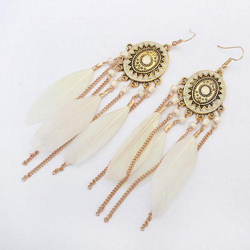 Cream Dream Catcher Earrings