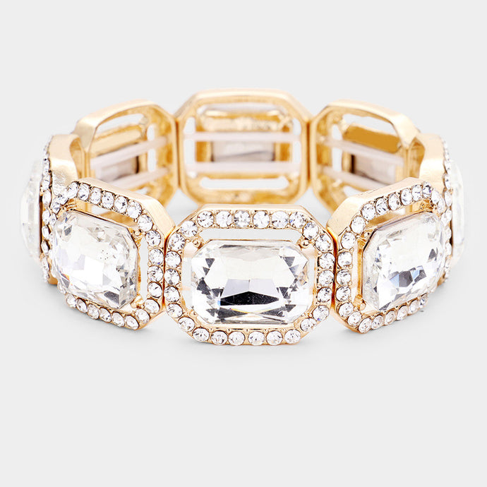 Crystal Octagon Stretch Bracelet