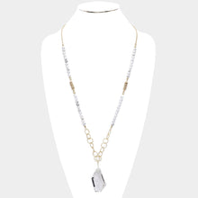 Crystal Pendant Ball Bead Long Necklace