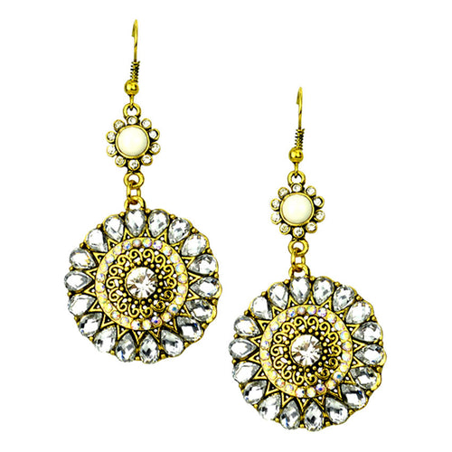 Elegant Diamond & Gold Earrings