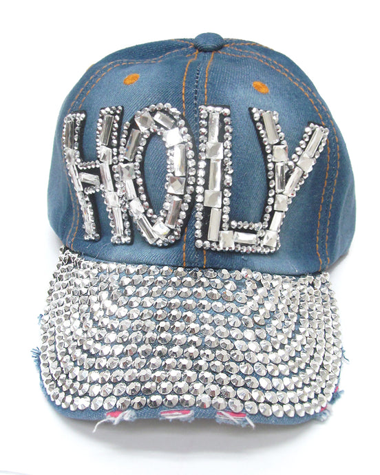 Denim Holy Baseball Cap