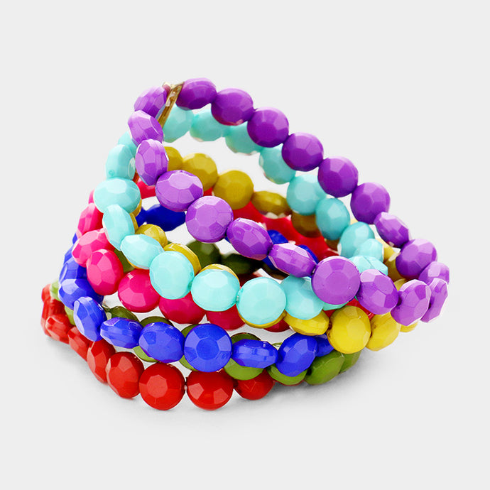 Multi-Colored 7 Strand Bracelet