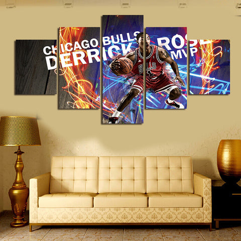 The Bulls Basketball Modern Art Canvas Wall Paintings Canvas Prints Paintings Art For Living Room Wall Decor Painting (Unframed)