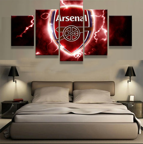 5 Pieces Arsenal Football Club Modern Home Wall Decor
