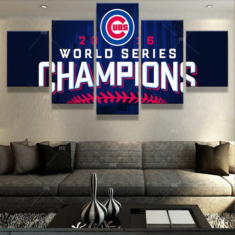 5 Panel UBS World Series Champions Logo Modern Home Wall Decor Canvas Picture Art HD Print Painting On Canvas For Living Room