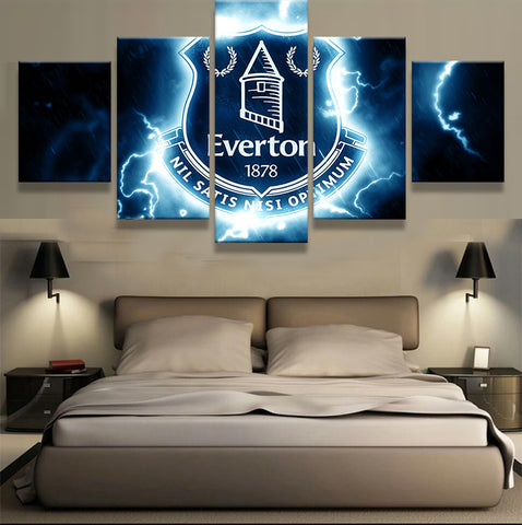 5 Pieces Everton Football Club Sports Fans Oil Painting