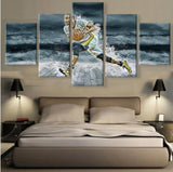 5 Panels Modern Canvas Prints Artwork Landscape Pictures Decor Modular High Quality Pictures Artwork