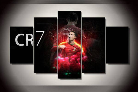 Framed Printed Cristiano Ronaldo Painting On Canvas Room Decoration Print Poster Picture Canvas Cuadros Decoracion