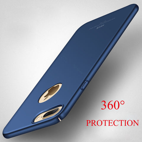 Msvii Original Thin Hard Frosted PC Back Cover Case For iPhone 7 7 Plus Cover Full Body Bag Case For iPhone 6 7 5 5s SE 6s Plus