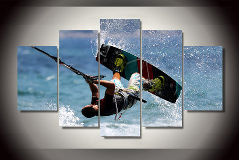 5 Panel/Set The Kite Surf Sports Painting Canvas Wall Art Picture Home Decoration Living Room Canvas Print Modern Painting