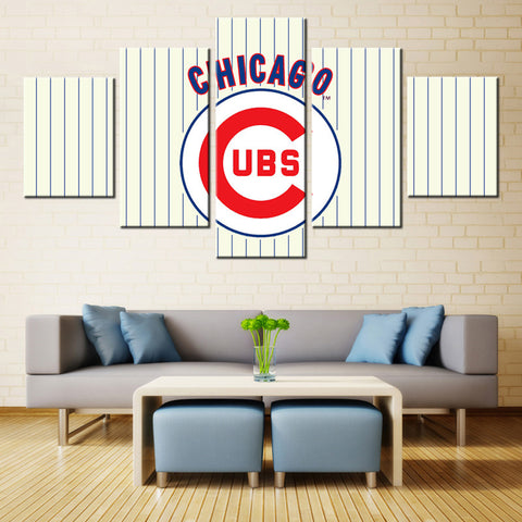 5 Pieces Chicago Cubs Sports Team Fans Oil Painting On Canvas Modern Home