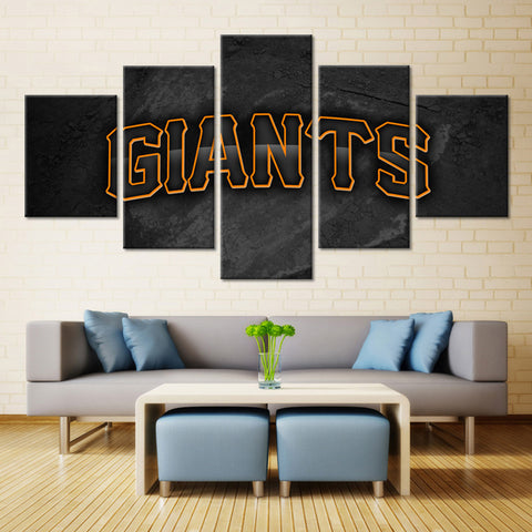 5 Pieces San Francisco Giants Wall Art Picture Modern Home