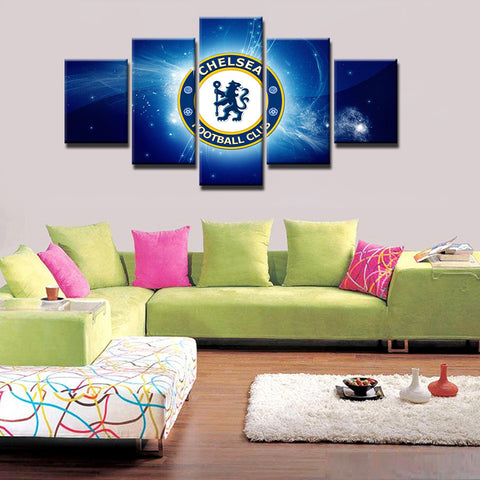 5 Panels Chelsea Football Club Painting Canvas Wall Art Picture Home