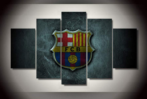 5 Sets Barcelona F C Soccer Team Modern Home Wall Decor Canvas Picture Art HD Print Painting On Canvas For Living Room