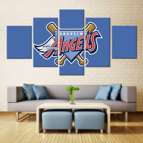 5 Pieces Los Angeles Angels Of Anaheim Wall Art Picture Home