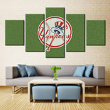 5 Pieces New York Yankees Sports Team Modern Abstract Home Wall