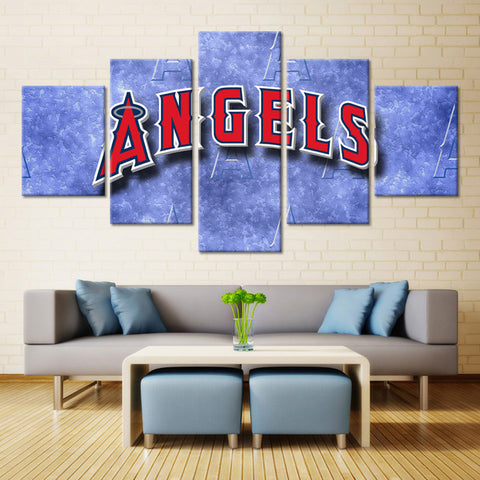 5 Panel Los Angeles Angels Of Anaheim Painting Canvas Wall Art Picture