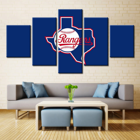 5 Pieces Canvas Art Rangers Sports Modern Home Wall Decor Canvas Modular Picture Art HD