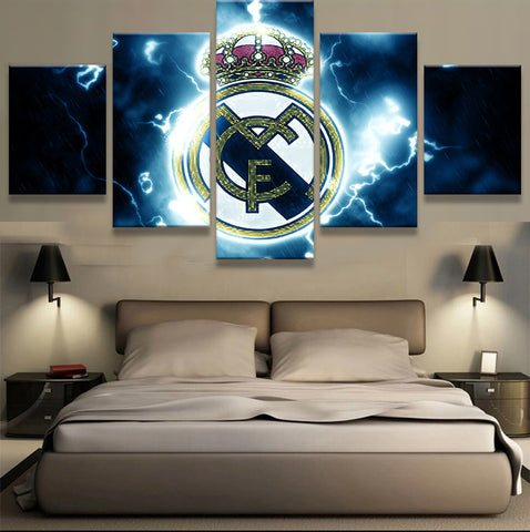 5 Panel New Sport Boys Room Deco Real Madrid