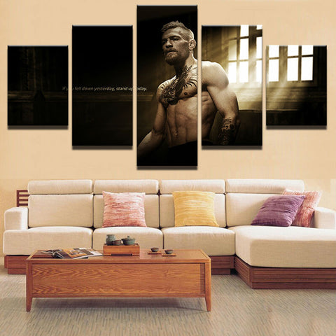 Wall Art Picture Home Decoration Living Room Canvas Print Wall Picture 5 Panel Sports Star Characters Poster Printing On Canvas