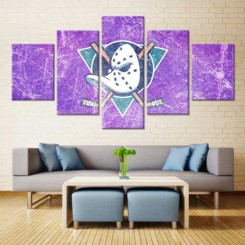 5 Panel Mighty Ducks  Modern Home Wall Decor Painting Canvas