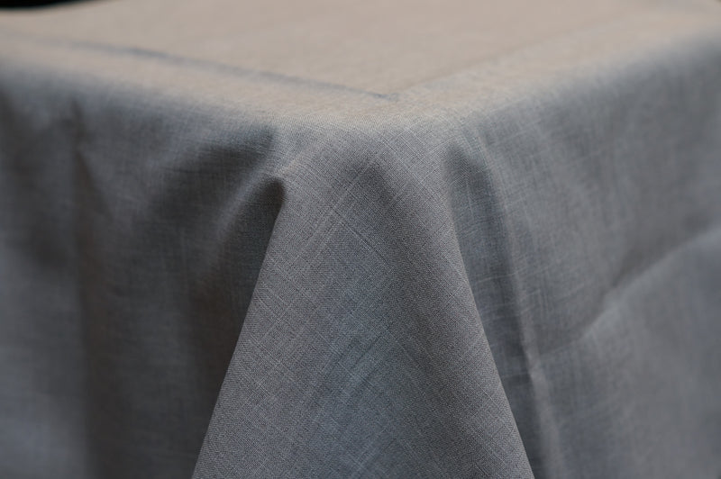 3.9m x 2.6m Light Grey Linen Look BANQUET Cloth