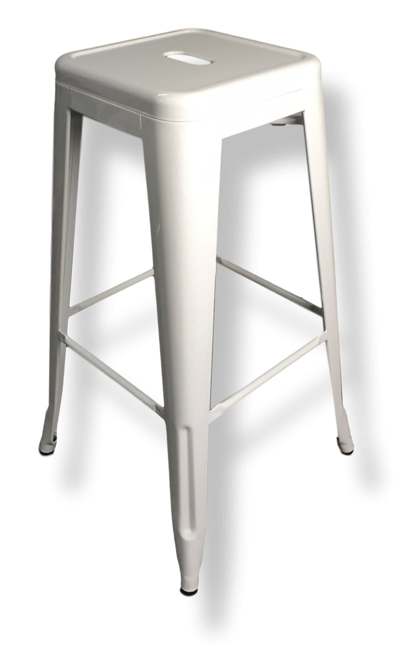 Bar Stool - White Tolix