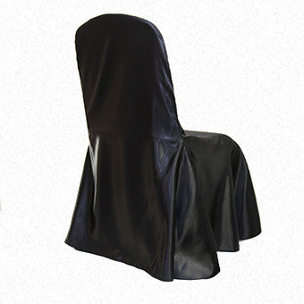 Black Satin LF Freeflow/drop chair cover