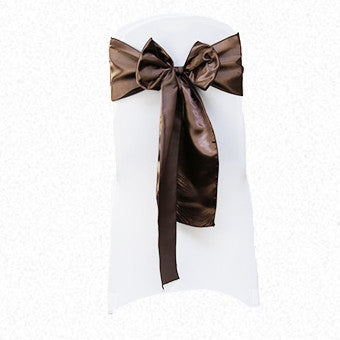 Chocolate Brown Satin Sash