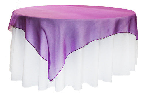 Grape/purple  Organza Square 2m Overlay
